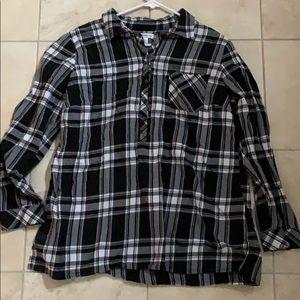 Plaid tunic size XL